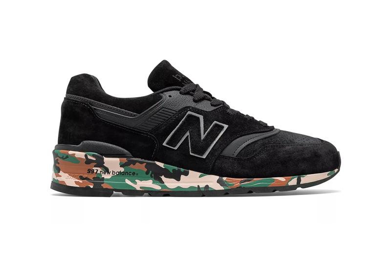 new balance 997 made in us sneaker black camouflage camo colorway release