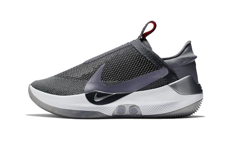 Nike Adapt BB Dark Grey gray red led lights AO2582 004 self lacing tying auto basketball earl plug swoosh