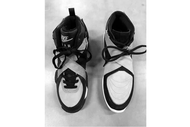 Jerry Lorenzo Teases New Nike Air Fear of God 180 greyscale black white grey 1992 Nike Air Raid