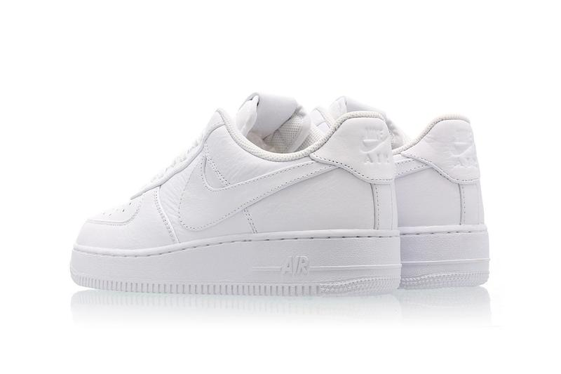 Nike Air Force 1 Big Swoosh All White Oversized Branding Logo Tick Release Date Information Drop Debossed Tongue Heel Accent