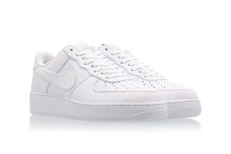 Nike Air Force 1 Big Swoosh All White Oversized Branding Logo Tick Release Date Information Drop Debossed Tongue Heel Accent