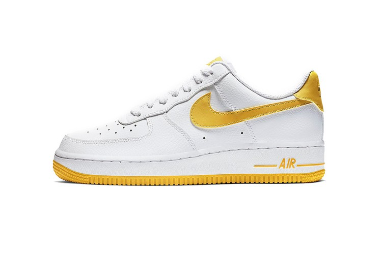 new style 879f5 69d6e Nike Air Force 1 to Release in Bright Mix of White and Yellow