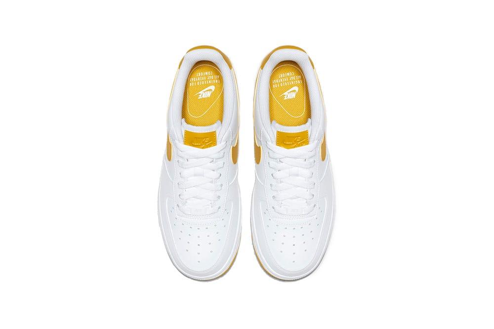 Nike Air Force 1 White \u0026 Yellow Release