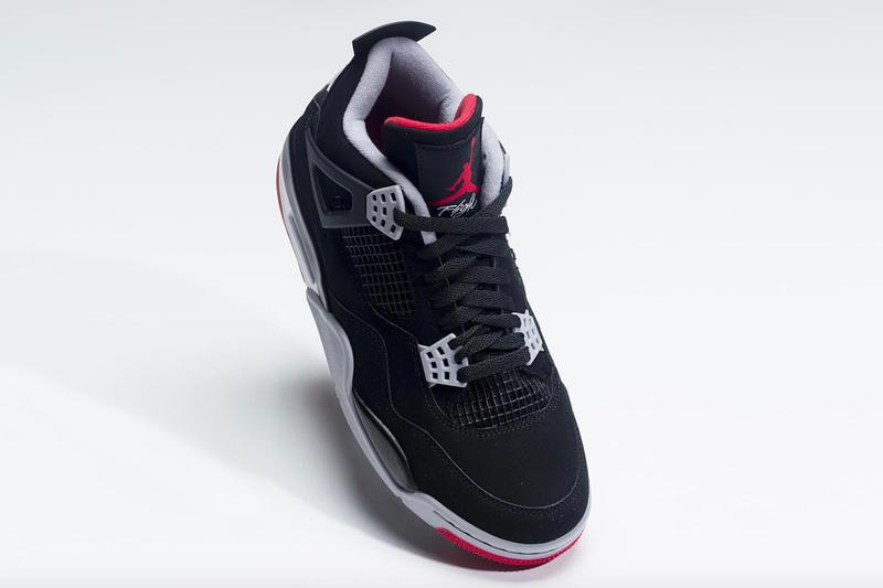 top fashion 6b632 59784 Nike Air Jordan 4 Bred 2019 Retro First Look Jordan Brand Michael Jordan