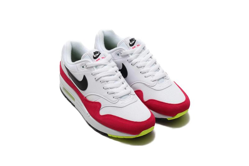 premium selection 9c492 d9dde Nike Air Max 1 White Black-Volt-Rush Pink release where to buy