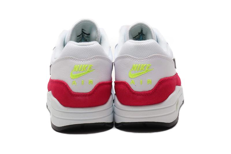 premium selection 76aba 2f18e Nike Air Max 1 White Black-Volt-Rush Pink release where to buy
