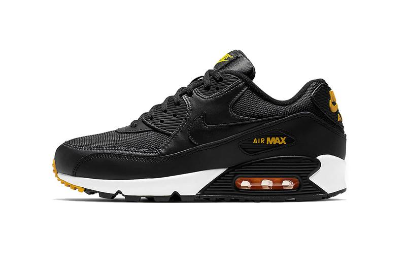 separation shoes 351f5 653fa nike air max 90 black white yellow 2019 march footwear nike sportswear