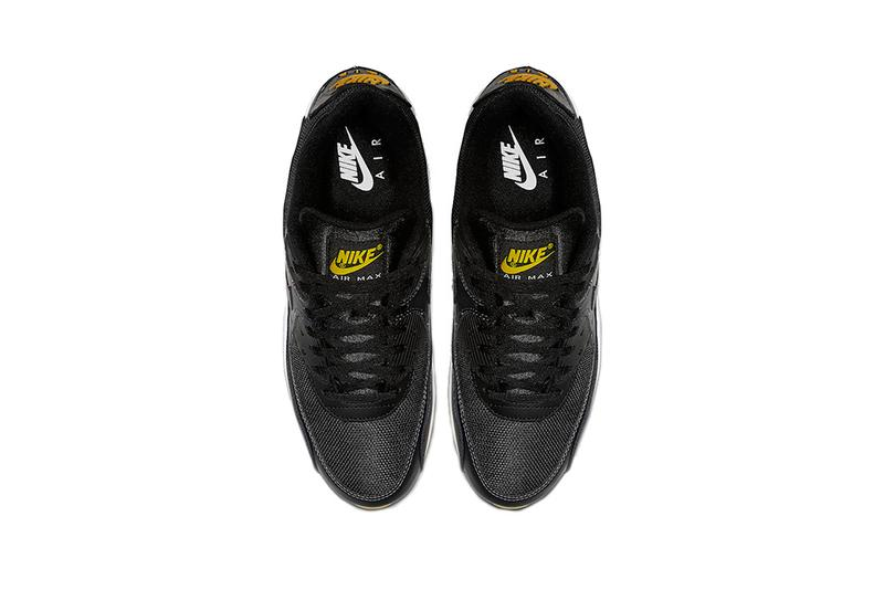 15e599c54c522 nike air max 90 black white yellow 2019 march footwear nike sportswear. 3  of 4. Sneaker Bar Detroit