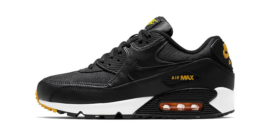 more photos 21ed2 24643 Nike Air Max 90 Black, White and Yellow   HYPEBEAST