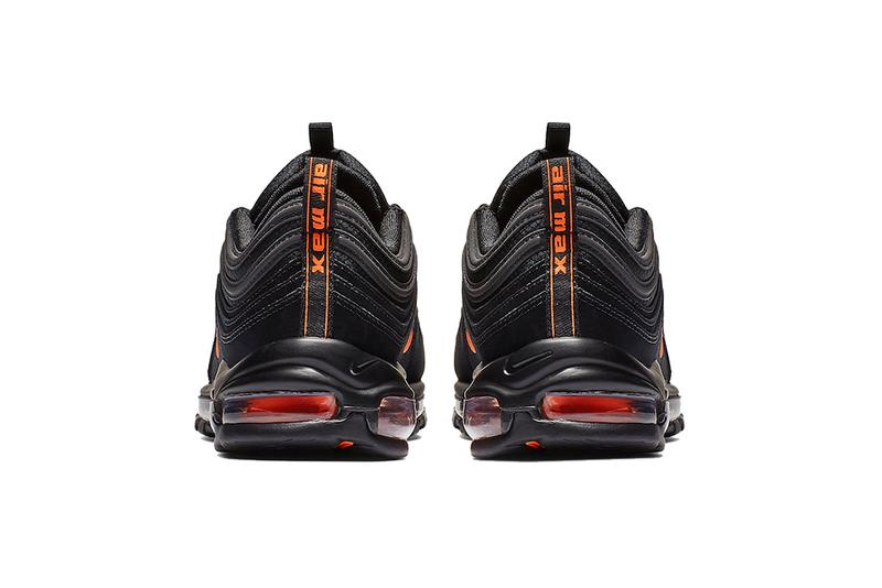 nike air max 97 black hyper crimson 2019 sportswear footwear CD1531 001 orange 3m reflective