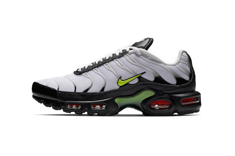 promo code a106a 7c305 Nike Air Max Plus Shows Touches of Volt Against Monochrome Base