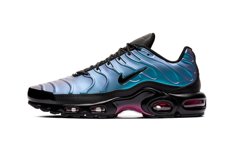 check out ab42e ecf8f A new iridescent look. Nike Air Max Plus Laser Fuchsia Release Blue Purple  Black Laser Regency