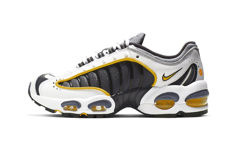 quite nice 05f15 426af Nike Air Max Tailwind 4 Navy Gold Release Info BQ9810-001 Grey