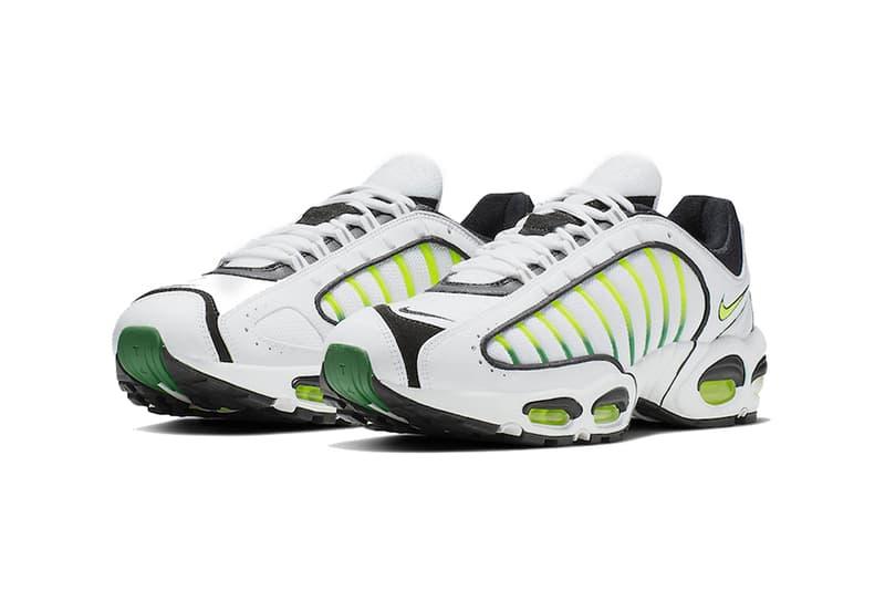 nike air max tailwind 4 sportswear footwear volt white black neon green iv