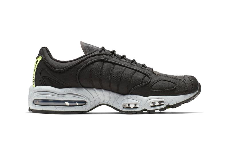 Nike Air Max Tailwind IV 4 Release Black ripstop volt Wolf Grey Volt Rip Stop MX Supreme