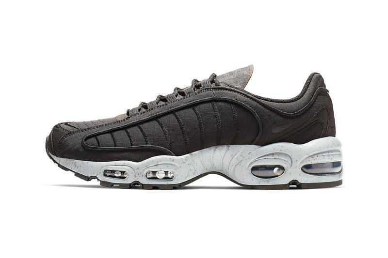 pretty nice 87695 4af79 Nike Air Max Tailwind IV Release Black Wolf Grey Volt Rip Stop MX Supreme
