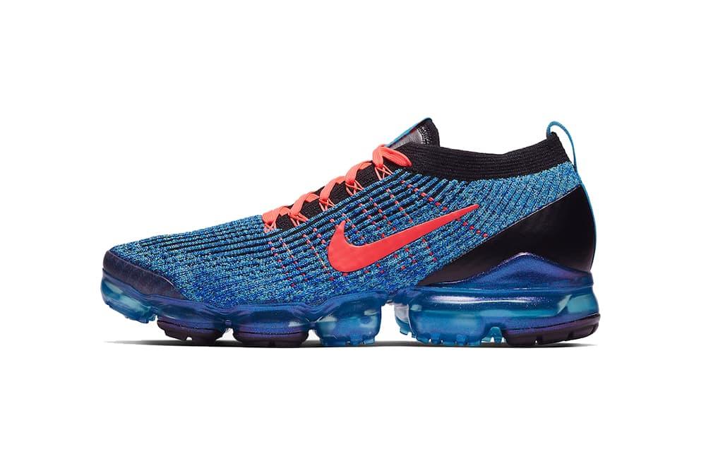 nike air vapormax 3.0 blue fury flash crimson racer blue black 2019 march nike sportswear footwear