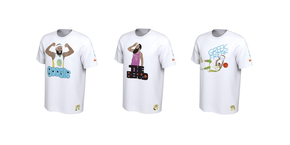 48a48c0153 Gangster Doodles x Nike NBA Nickname T-Shirts | HYPEBEAST