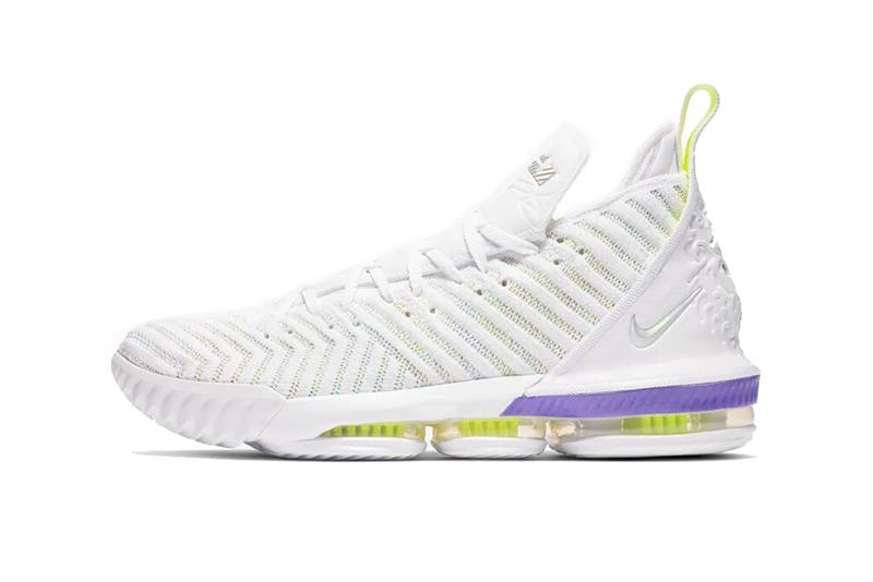 nike lebron 16 buzz lightyear white hyper grape volt 2019 march footwear lebron james nike basketball