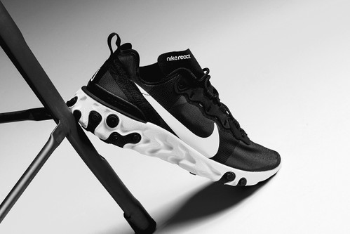 "Nike's React Element 55 Goes Back to Basics in a ""Black/White"" Colorway"