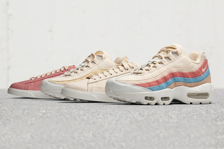 buy online d3196 d4a87 Nike Reworks Blazer Low  Air Max 95 With Plant-Based Dyes