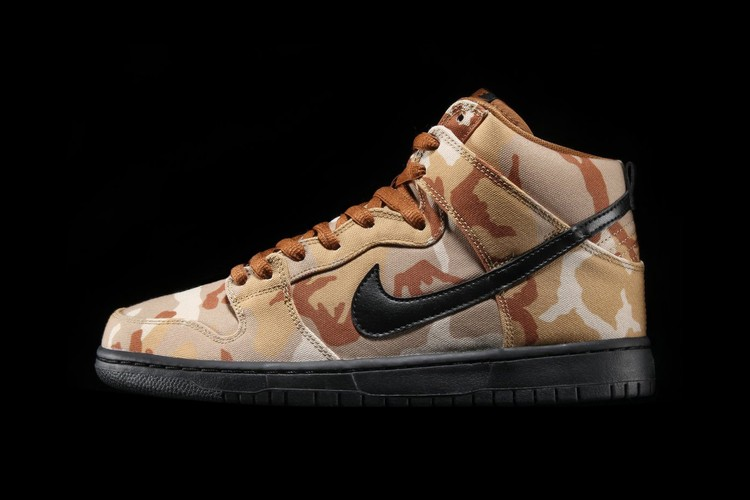 Nike SB Dunk High Comes Wrapped in Desert Camo Colorway 969527a84db