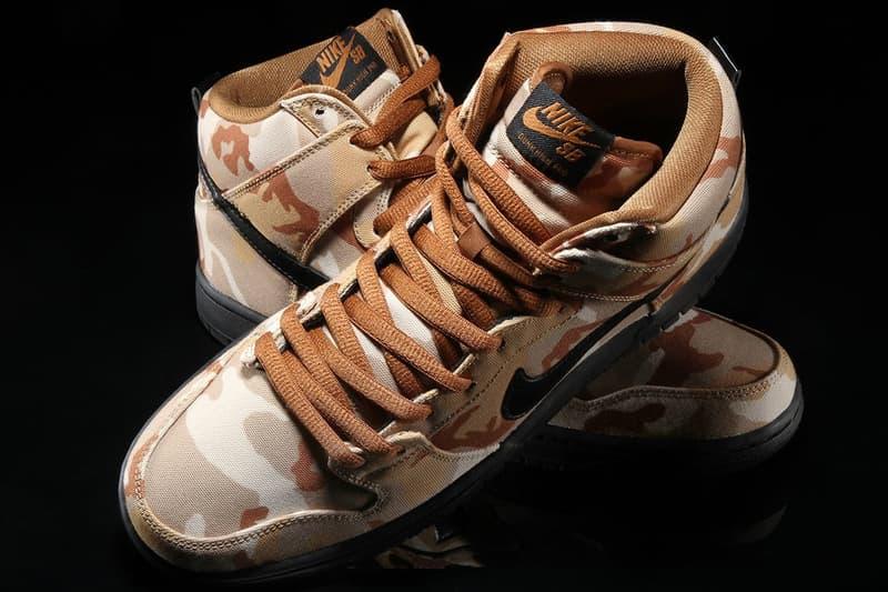 Nike SB Dunk High Desert Camo Parachute Beige Black Ale Brown Premier Sneaker Trainer Shoe Buy Best Footwear Releases UK Cop Purchase