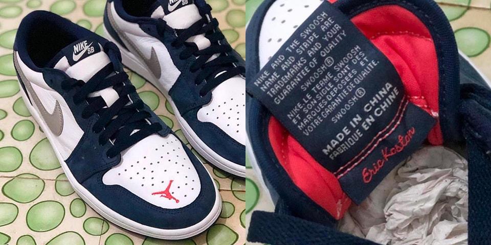 cc2f117a5c8 Eric Koston Nike SB x Air Jordan 1 Low First Look
