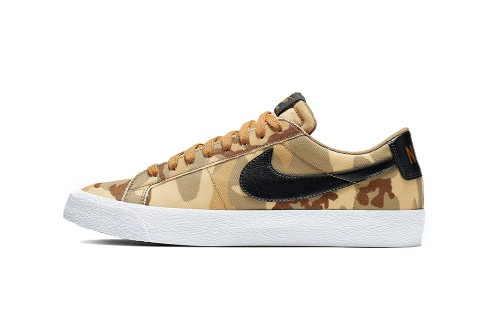"Nike's SB Zoom Blazer Low Matches the SB Dunk High in ""Desert Camo"""