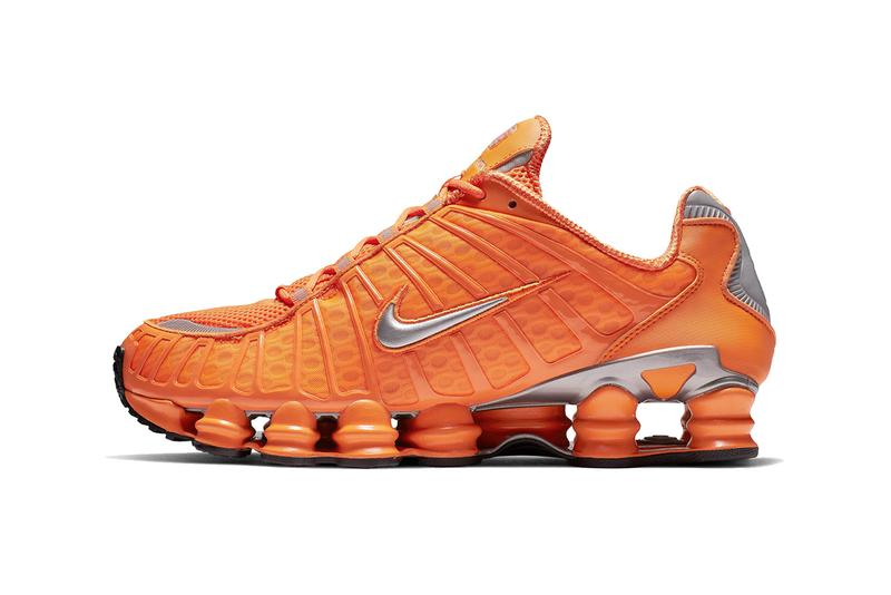 nike shox tl total orange silver triple black 2019 march footwear sportswear
