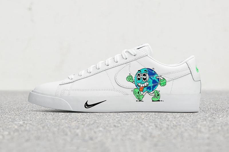 Nike Spring Summer Sustainability Collection Info Steve Harrington artwork global warming Earth green trees health polar ice caps climate change Earth Day Pack