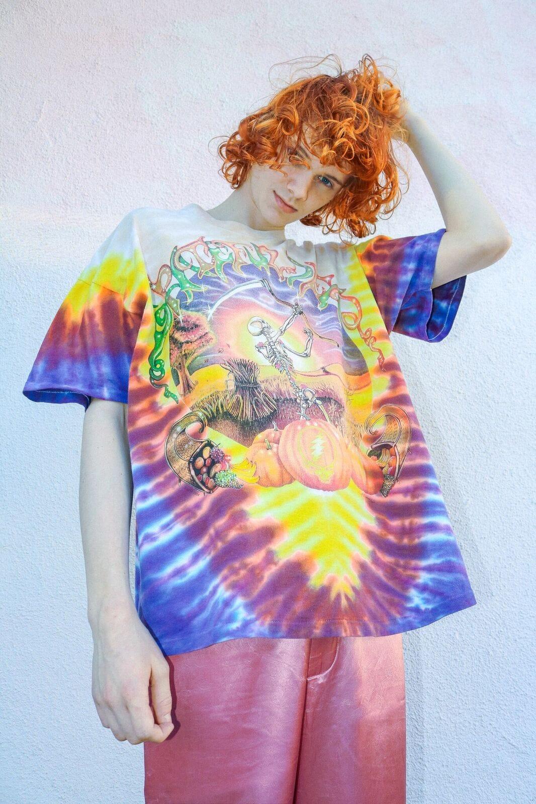 Grateful Dead Men/'s  Cal State Tie Dye T-shirt Multi