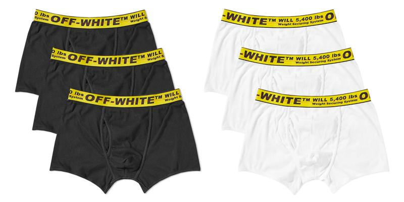 Off-White™ Releases Boxer Brief 3-Packs white black industrial belt made in italy yellow boxers underwear undergarments virgil abloh