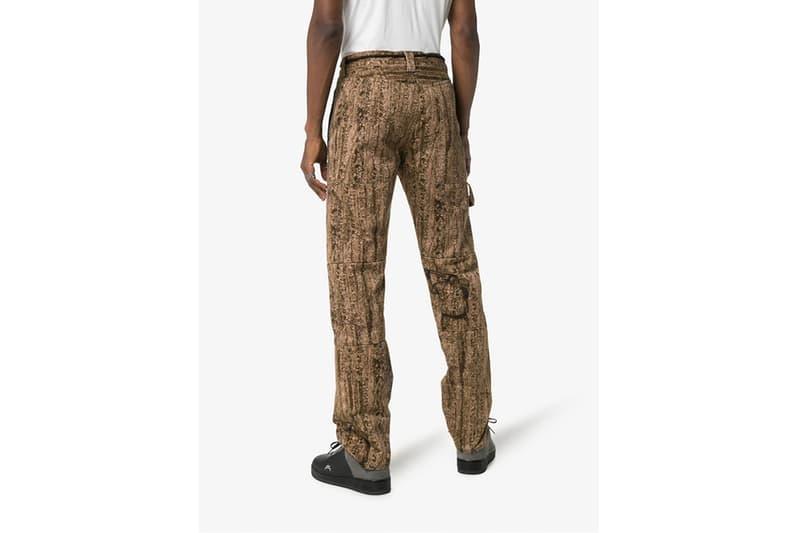 Off-White™ Camo Cotton Sweat Pants Release Info drop pricing virgil abloh trousers tree camo