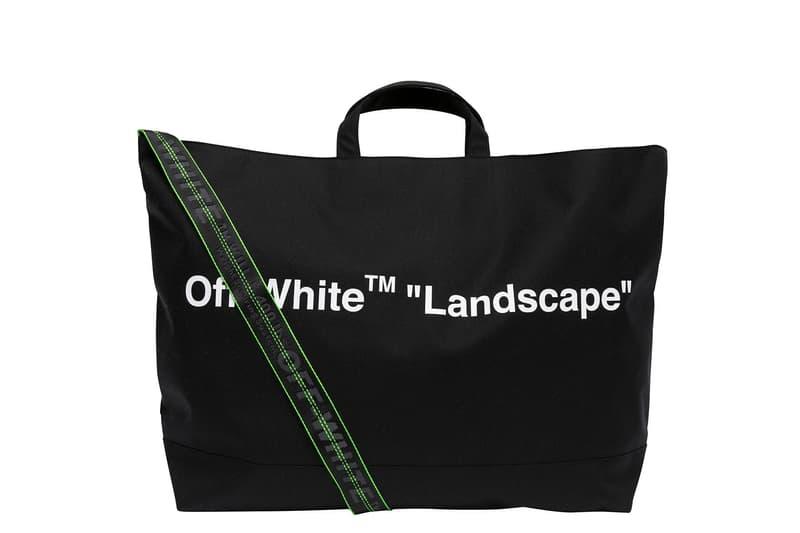 Off-White™ Hankyu MEN'S TOKYO LANDSCAPE Pop Up Virgil Abloh WOODS ARROWS T shirt hoodie socks tote bag industrial belt card holder 5 panel Black White