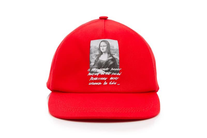 Off White Mona Lisa Cap Release Red Virgil Abloh Leonardo da vinci