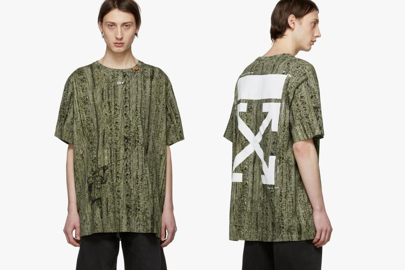 Off White Oversized Real Camo T-Shirt Release Green black Tree