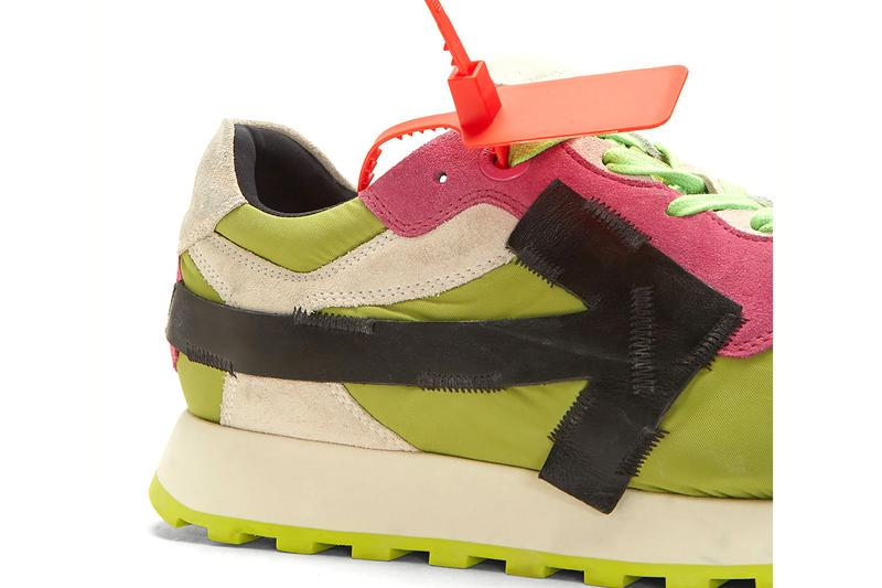 Off-White Arrow Runner Sneaker Green Virgil Abloh Off White Streetwear Fashion Menswear Release Date To Buy For Sale Information