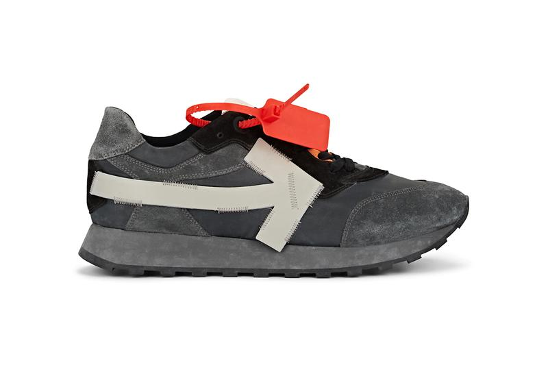 off white virgil abloh arrow sneakers gray black colorway release barneys