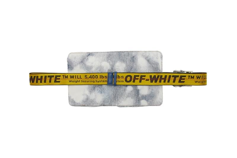 off white denim belt hip bag extreme bleach colorway virgil abloh ssense