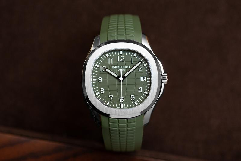 Patek Philippe Aquanaut 5168G-010 Khaki Green Basel World  watches diving sports watch swiss made