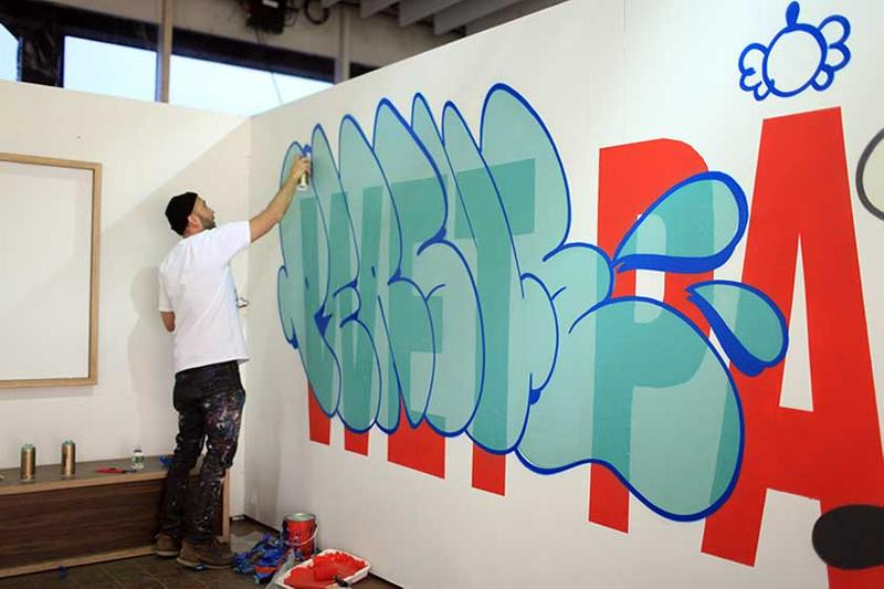 persue wet paint basement ginza tokyo japan graffiti artworks painting