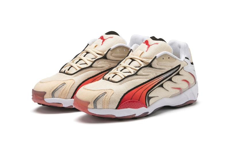 Puma Inhale Reissue Running Shoe Beige Red Black
