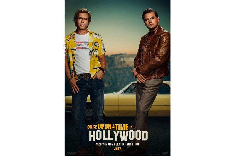 Once Upon a Time in Hollywood First Poster Quentin Tarantino Brad Pitt Leonardo DiCaprio Al Pacino Margot Robbie
