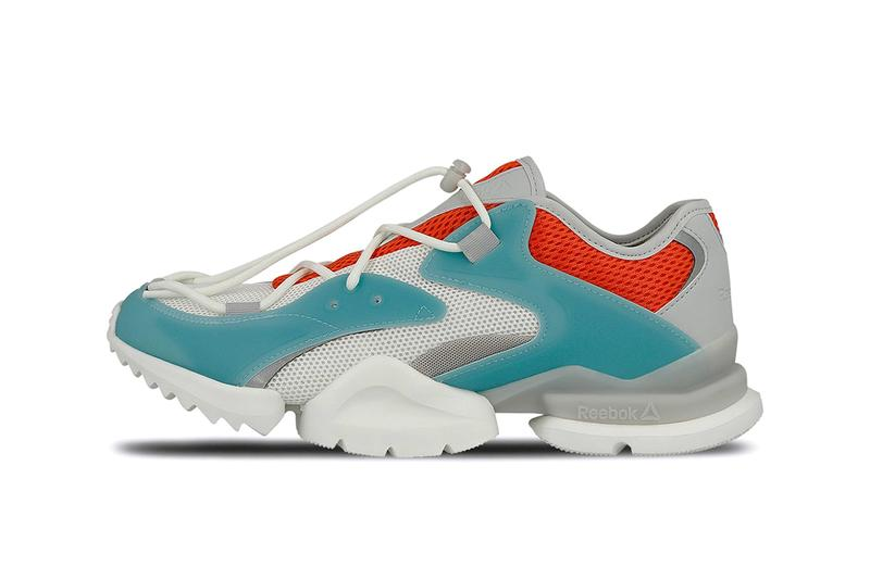 37f15d42d6ea Reebok Run.r 96 Carotene Mist Grey Chalk Blue Red Orange Detailing Closer  Look Release