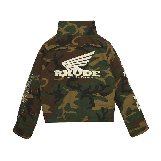 rhude spring summer 2019 ss19 collection clothes where to buy cost price store info release details outerwear jacket t shirt graphic black white camo