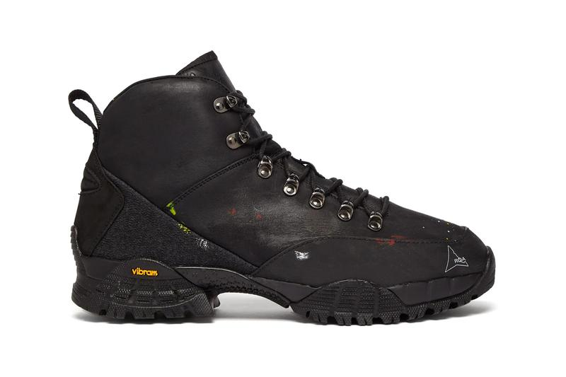 ROA Andreas Boots Paint Splattered Release Black MATCHESFASHION.COM