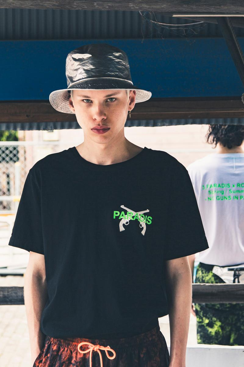 3.PARADIS roar roarguns collaboration capsule collection spring summer 2019 ss19 drop release date info japan no guns in paradis logo