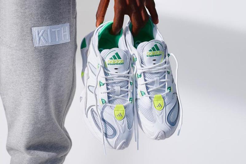 Ronnie Fieg KITH adidas feet you wear FYW S 97 Salvation Teaser Release Information Drop First Look Green White Freddie Logo Neon Fluorescent Yellow Consortium