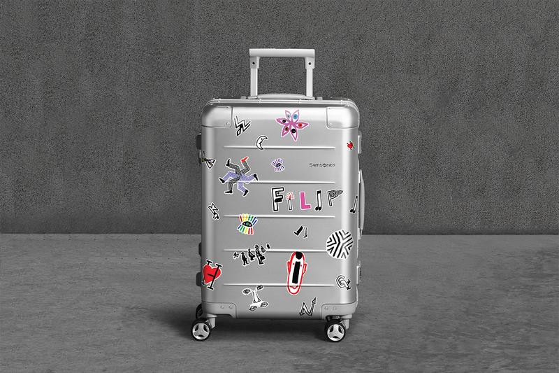 Samsonite x Filip Pagowski Xylem 2.0 Suitcase Release travel CDG PLAY Stickers